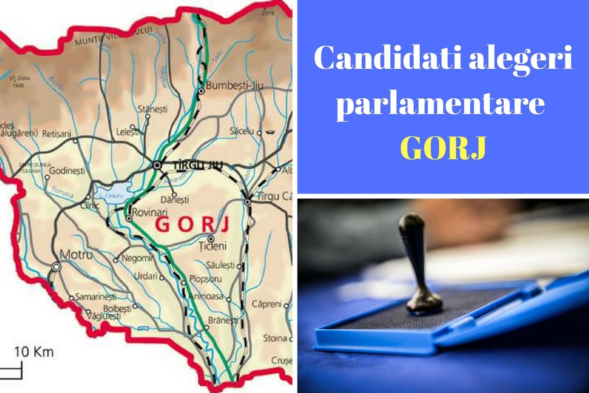 Candidați alegeri parlamentare 2016 Gorj. Listele de candidați ale partidelor pentru Camera deputaților și Senat în județul Gorj.