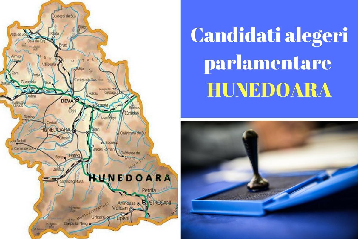Candidați alegeri parlamentare 2016 Hunedoara. Listele de candidați ale partidelor pentru Camera deputaților și Senat în județul Hunedoara.