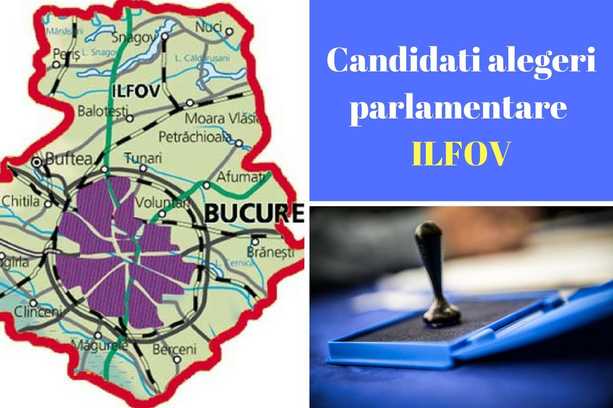 Candidați alegeri parlamentare 2016 Ilfov. Listele de candidați ale partidelor pentru Camera deputaților și Senat în județul Ilfov.