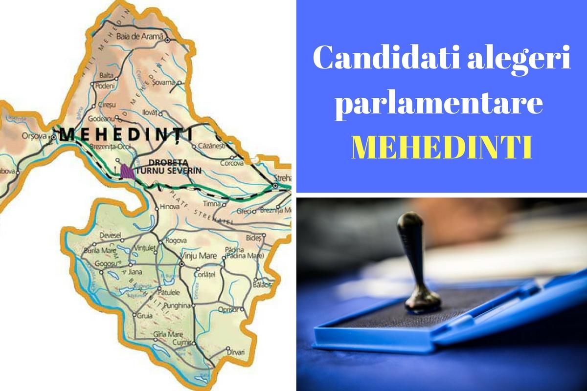 Candidați alegeri parlamentare 2016 Mehedinți. Listele de candidați ale partidelor pentru Camera deputaților și Senat în județul Mehedinți.