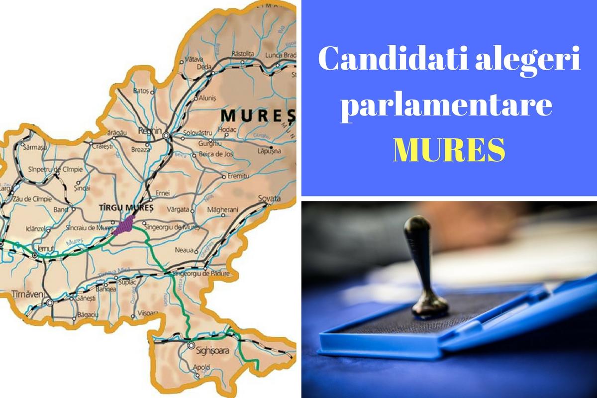 Candidați alegeri parlamentare 2016 Mureș. Listele de candidați ale partidelor pentru Camera deputaților și Senat în județul Mureș.
