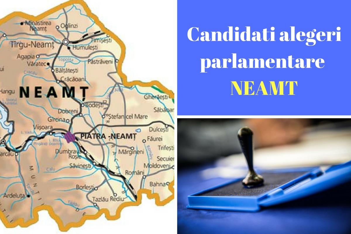 Candidați alegeri parlamentare 2016 Neamț. Listele de candidați ale partidelor pentru Camera deputaților și Senat în județul Neamț.