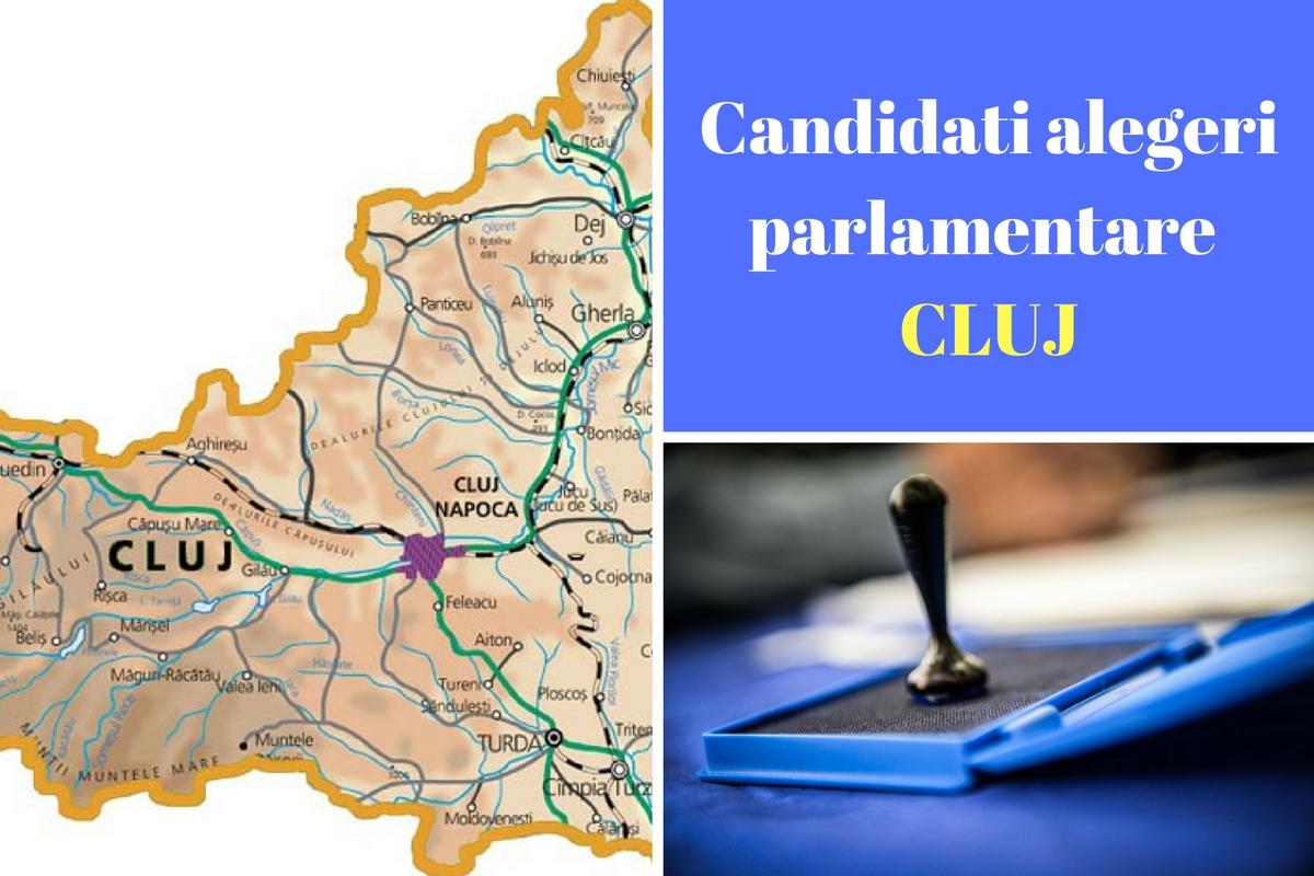 Candidați alegeri parlamentare 2016 Cluj. Listele de candidați ale partidelor pentru Camera deputaților și Senat în județul Cluj.