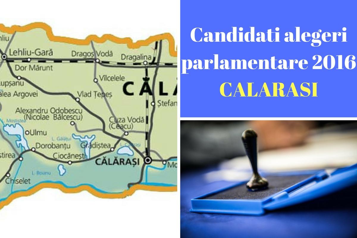 Candidați alegeri parlamentare 2016 Călărași. Listele de candidați ale partidelor pentru Camera deputaților și Senat în județul Călărași.
