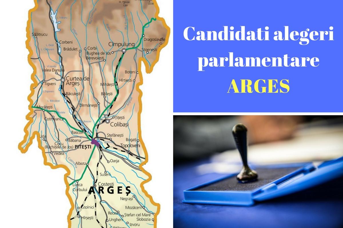 Candidați alegeri parlamentare 2016 Argeș. Listele de candidați ale partidelor pentru Camera Deputaților și Senat în județul Argeș.