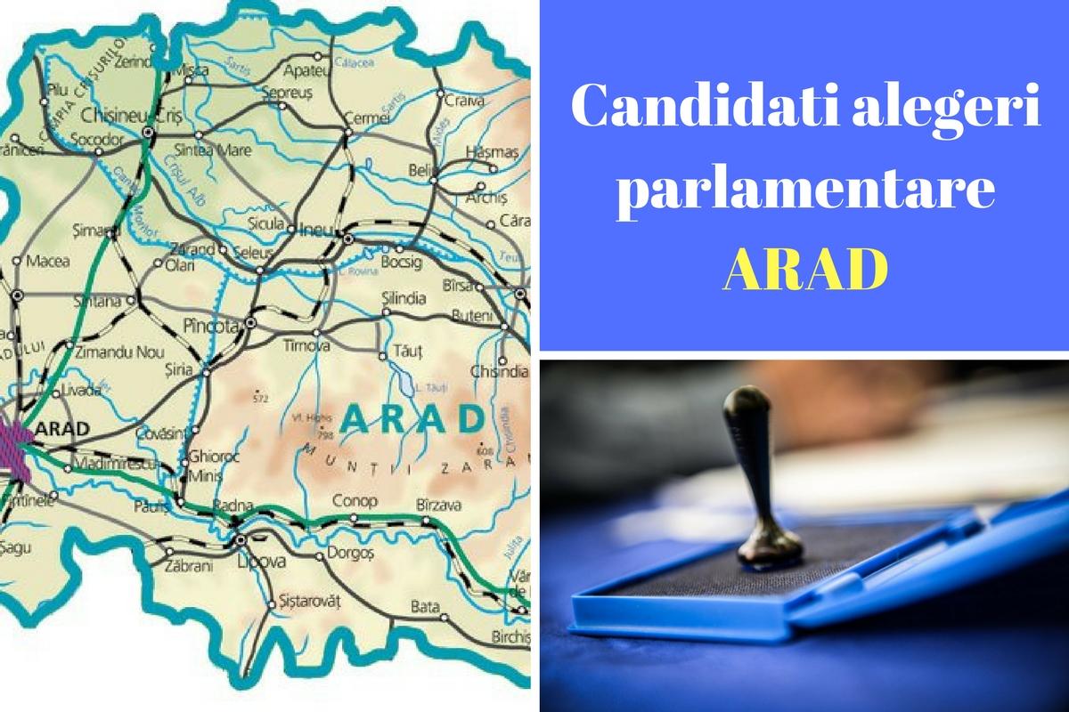 Candidați alegeri parlamentare 2016 Arad. Listele de candidați ale partidelor pentru Camera deputaților și Senat în județul Arad