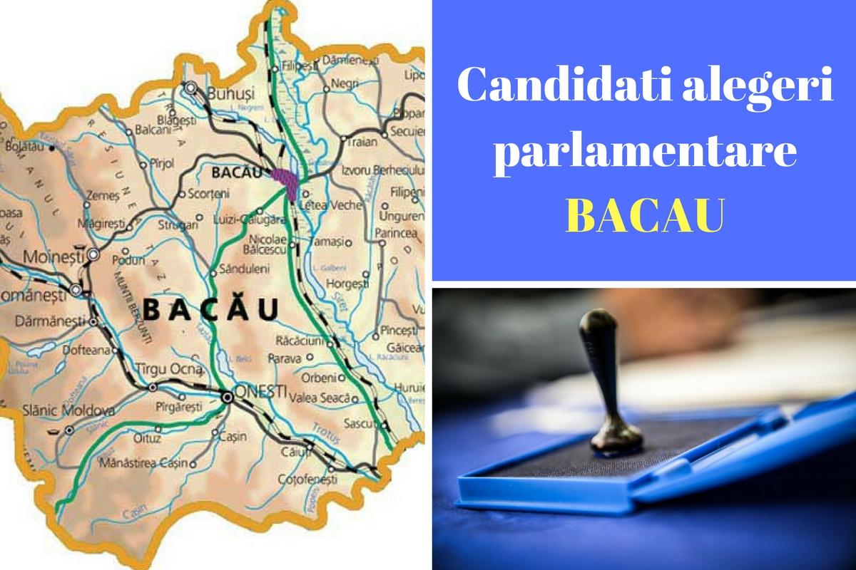 Candidați alegeri parlamentare 2016 Bacău. Listele de candidați ale tuturor partidelor pentru Camera deputaților și Senat în județul Bacău.