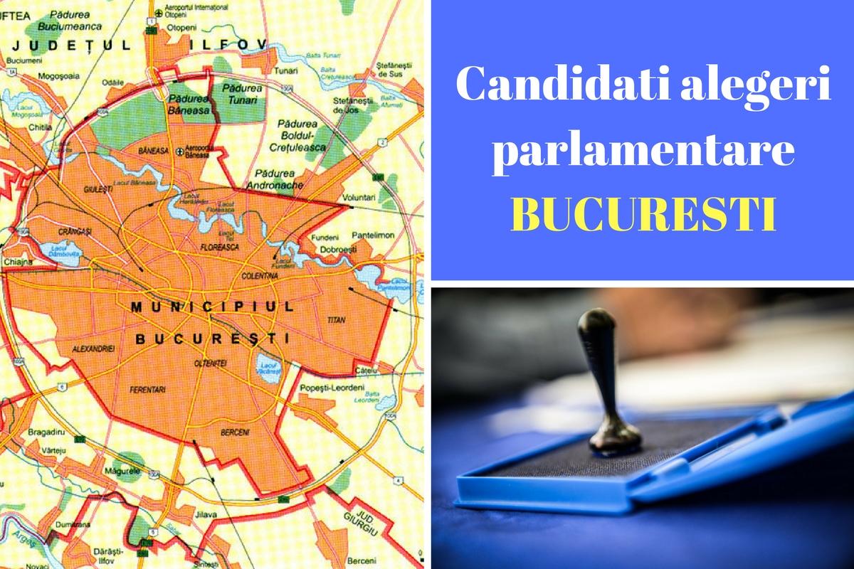 Candidați alegeri parlamentare 2016 BUCUREȘTI. Listele de candidați ale partidelor pentru Camera Deputaților și Senat în Capitala.