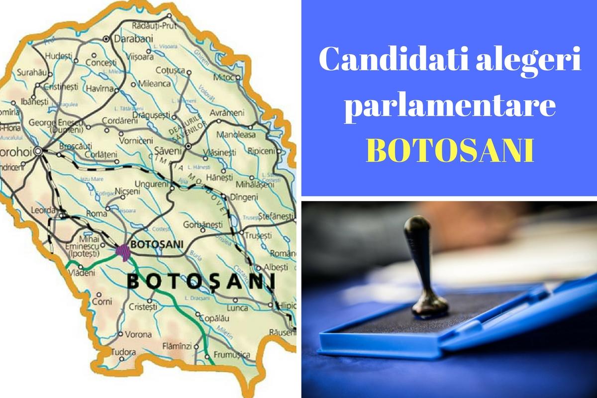 Candidați alegeri parlamentare 2016 Botoșani. Listele de candidați ale tuturor partidelor pentru Camera deputaților și Senat în județul Botoșani.