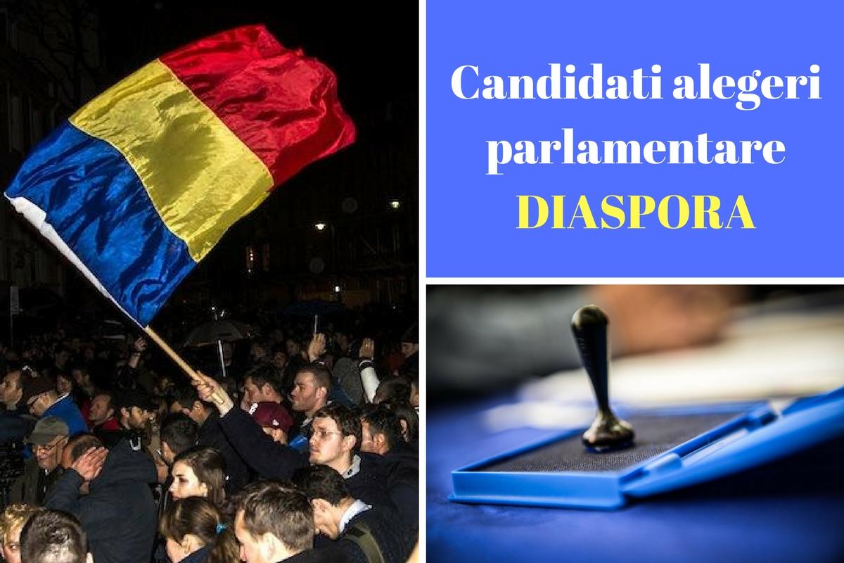 Candidați alegeri parlamentare 2016 Diaspora. Listele de candidați ale partidelor pentru Camera Deputaților și Senat pentru românii din străinătate.