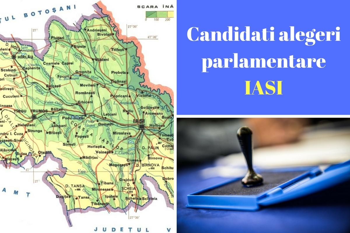 Candidați alegeri parlamentare 2016 Iași - Liste. Cine candidează în județul Iași la Camera Deputaților și la Senat. Candidații tuturor partidelor.
