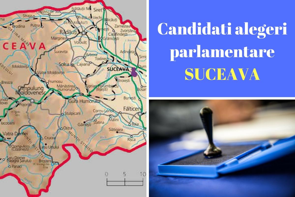 Candidați alegeri parlamentare 2016 Suceava. Listele de candidați ale partidelor pentru Camera Deputaților și Senat în județul Suceava.