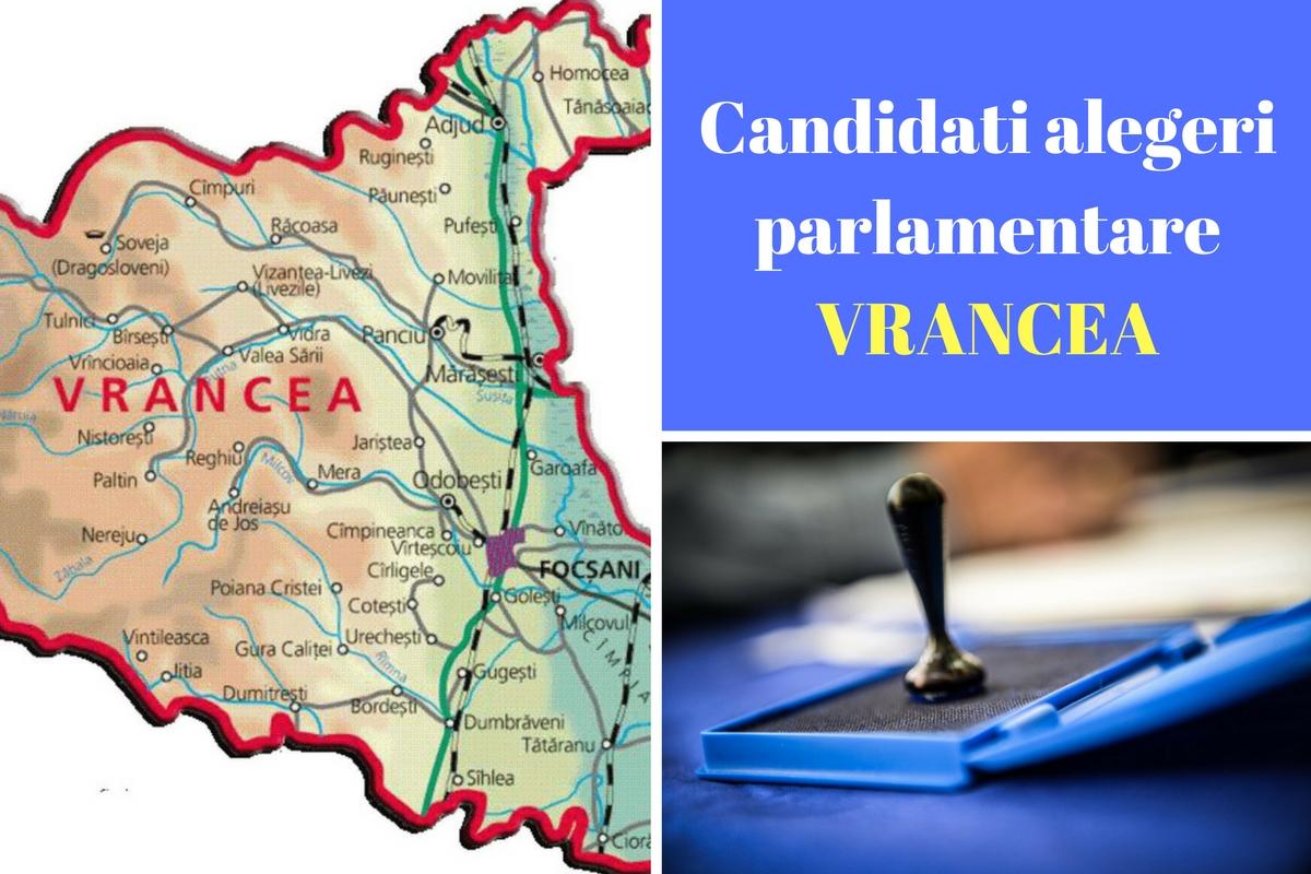 Candidați alegeri parlamentare 2016 Vrancea. Listele de candidați ale partidelor pentru Camera Deputaților și Senat în județul Vrancea.