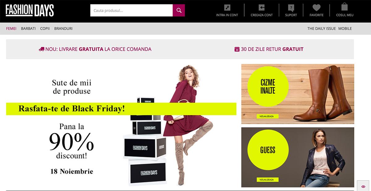 Ce se vinde pe Fashion Days Black Friday 2016 din ofertăCe se vinde pe Fashion Days Black Friday 2016 din ofertă