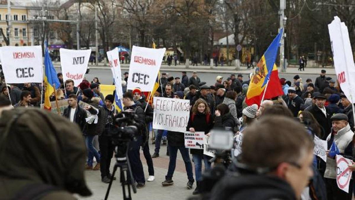 Proteste la Chișinău: Se cere repetarea turului al doilea al alegerilor din Republica Moldova