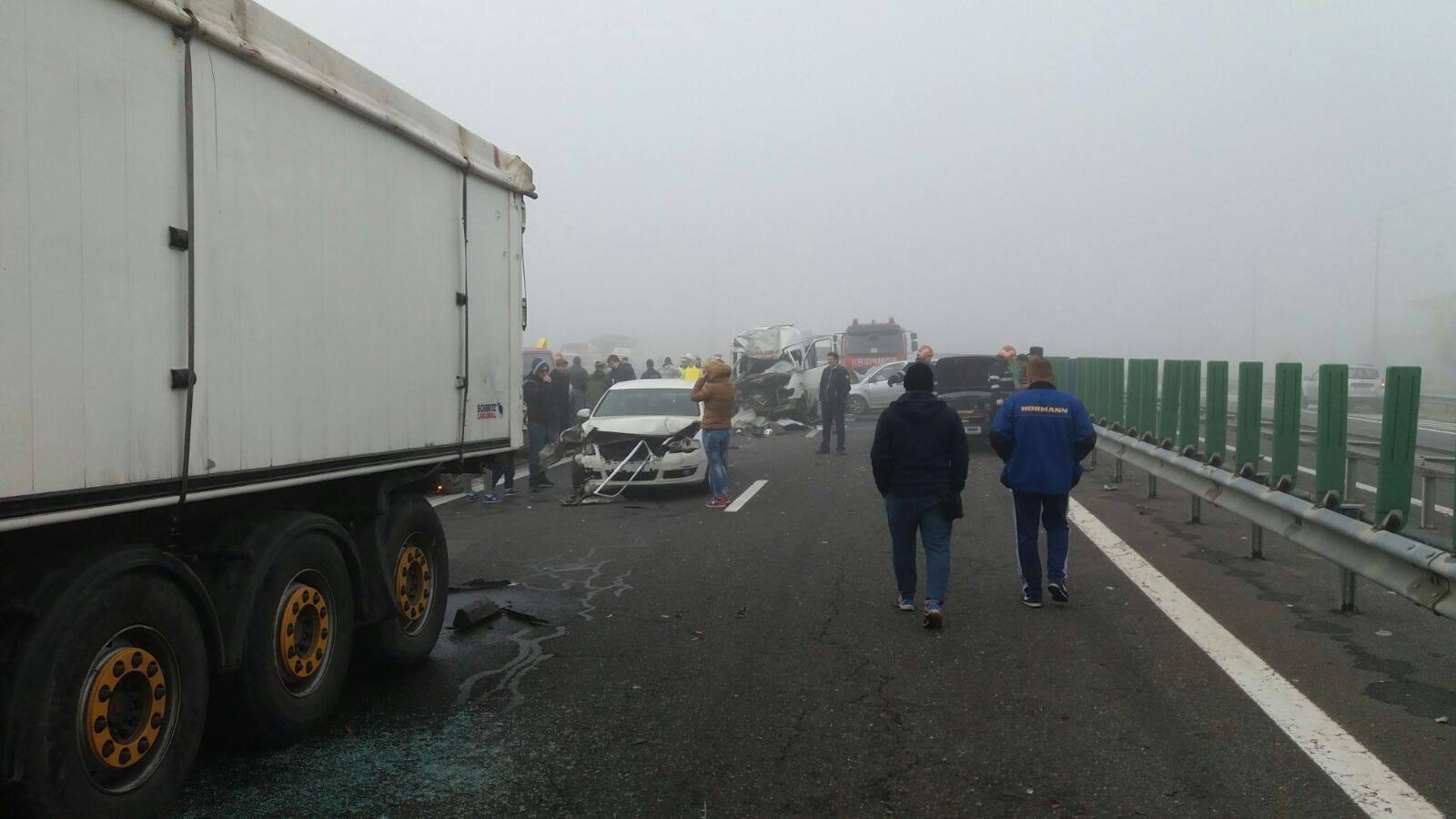 Accident grav pe A2