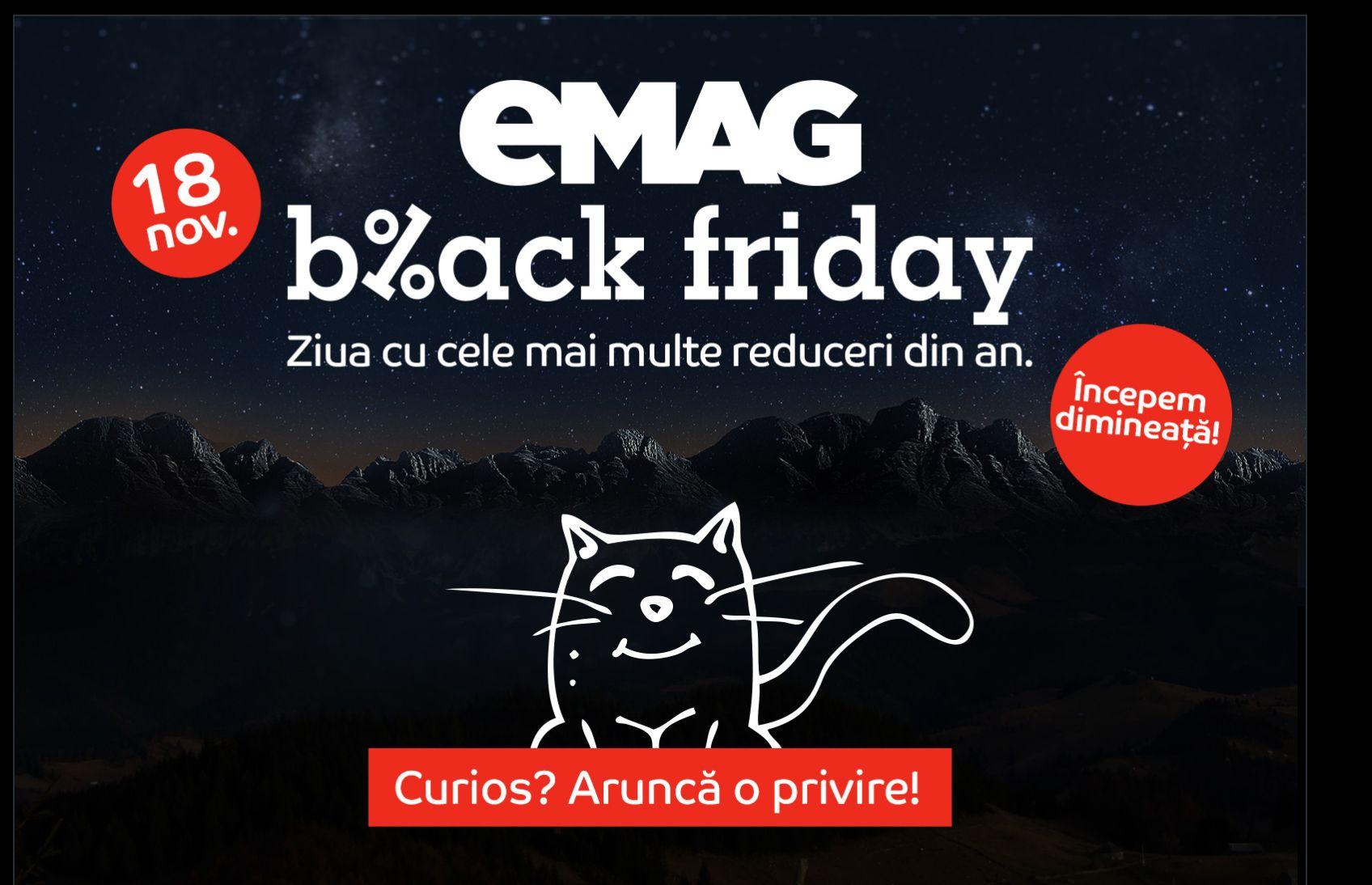 Catalog eMAG Black Friday 2016. Oferta promoțională a retailerului eMAG. Gama de produse cu prețuri speciale cu ocazia zilei de 18 noiembrie.
