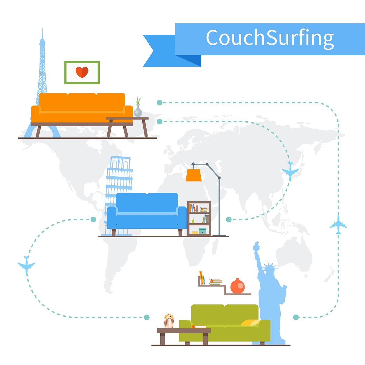 CouchSurfing este sistemul prin care intri în contact cu oameni din toată lumea, îţi alegi o destinaţie şi o gazdă care te poate primi