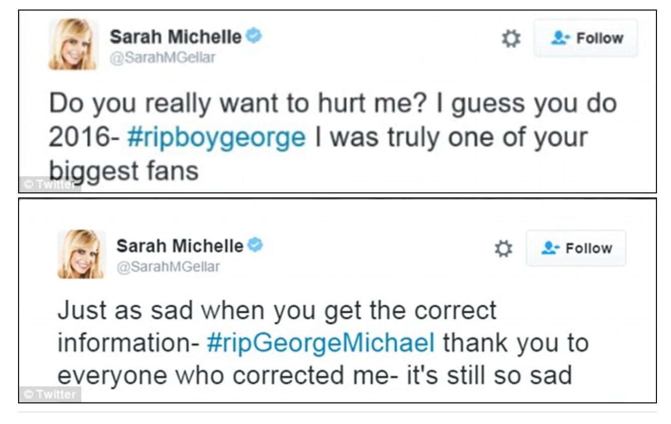 George Michael de Sarah Michelle