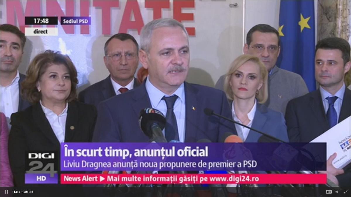 Sorin Grindeanu este propunerea PSD-ALDE pentru funcția de premier. Anunțul a fost făcut de liderul PSD, Liviu Dragnea.