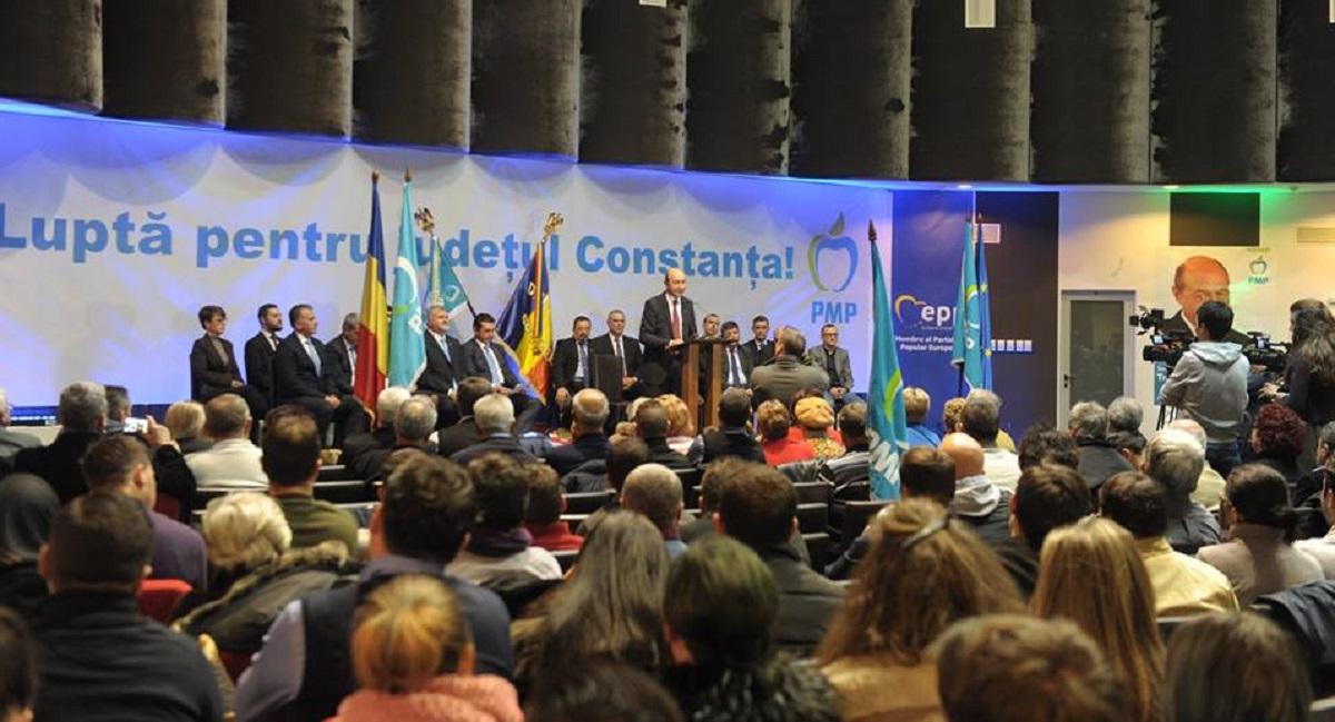 Traian Băsescu a fost prezent la Constanța, la o manifestare de lansare a candidaților PMP. Fostul șef al statului a spus că...
