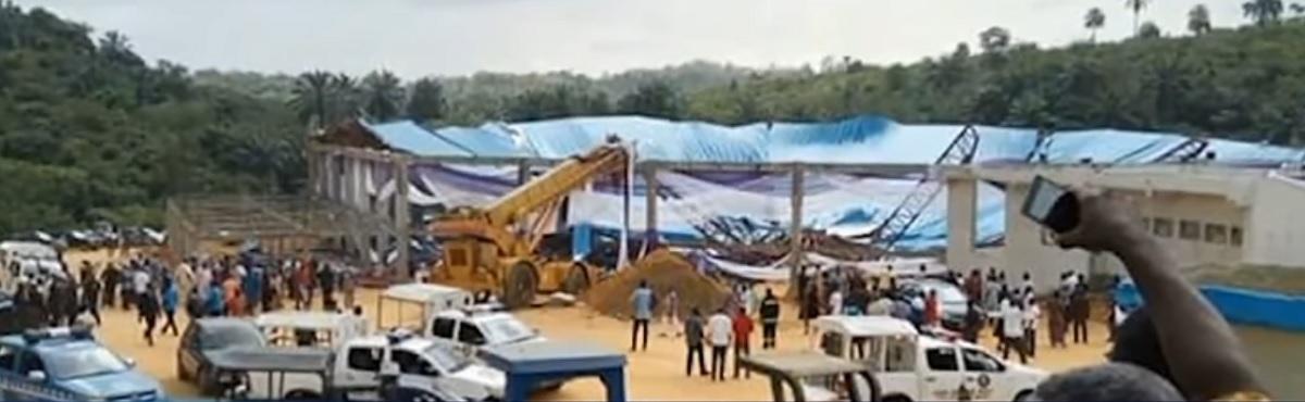 Cel puţin 160 de oameni au murit după ce acoperişul unei biserici aglomerate s-a prăbuşit peste credincioşi, sâmbătă, în Nigeria.