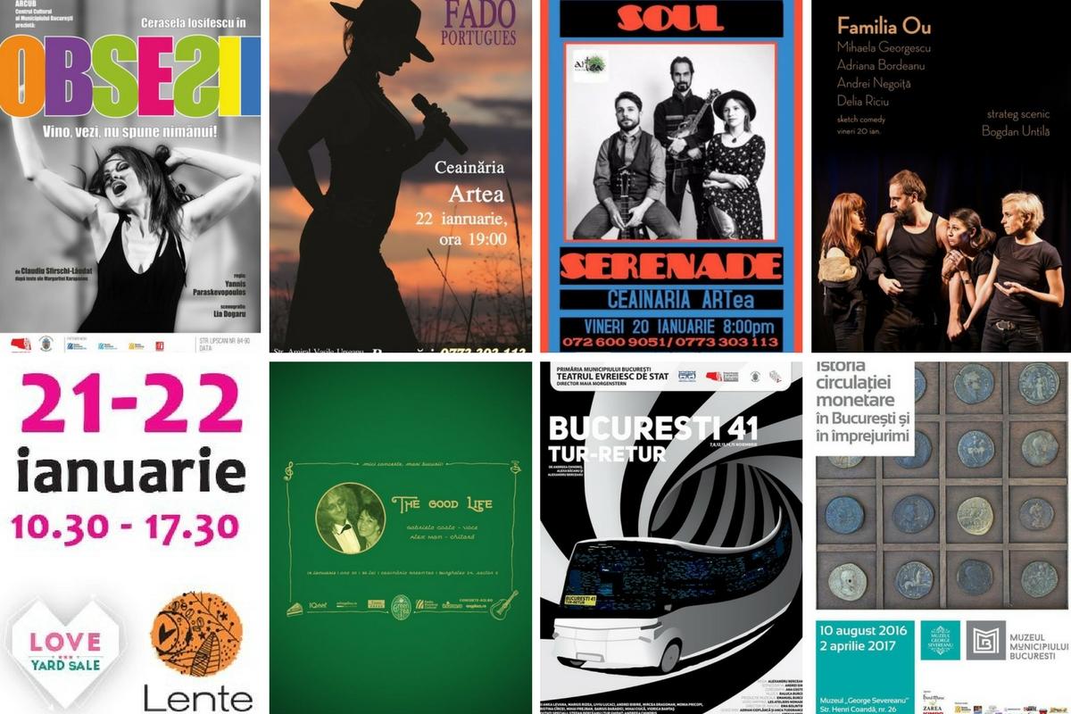 Agenda săptămânii 16-22 ianuarie 2017. Evenimente, spectacole, concerte, piese de teatru, târguri, expoziții