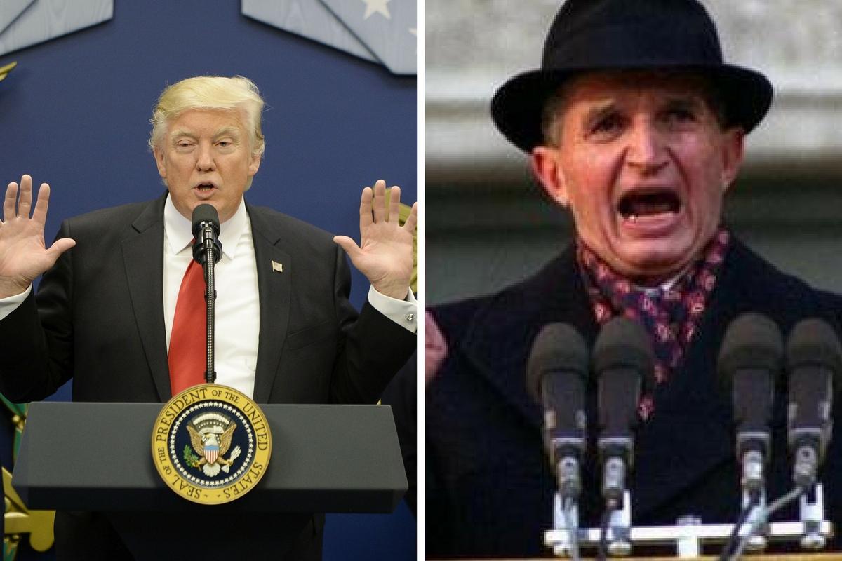 Donald Trump și Nicolae Ceausescu