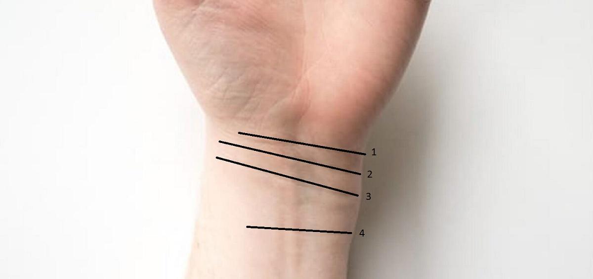 Ce înseamnă liniile de la încheietură? Majoritatea oamenilor au doar două lunii la încheietură. Cei cu patru linii vor avea o viață lungă și