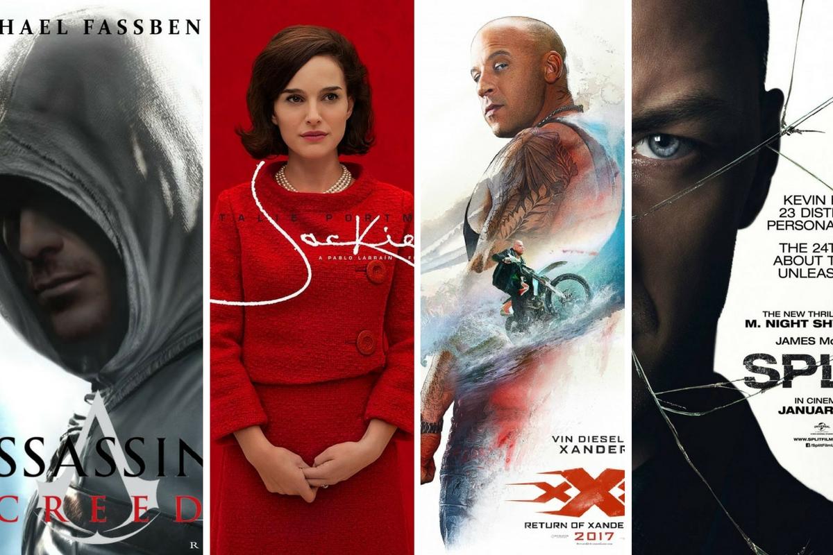 Filmele lunii ianuarie 2017 - Assassin's Creed: Codul Asasinului, Jackie, Tripe X: Return of Xander Cage, Split