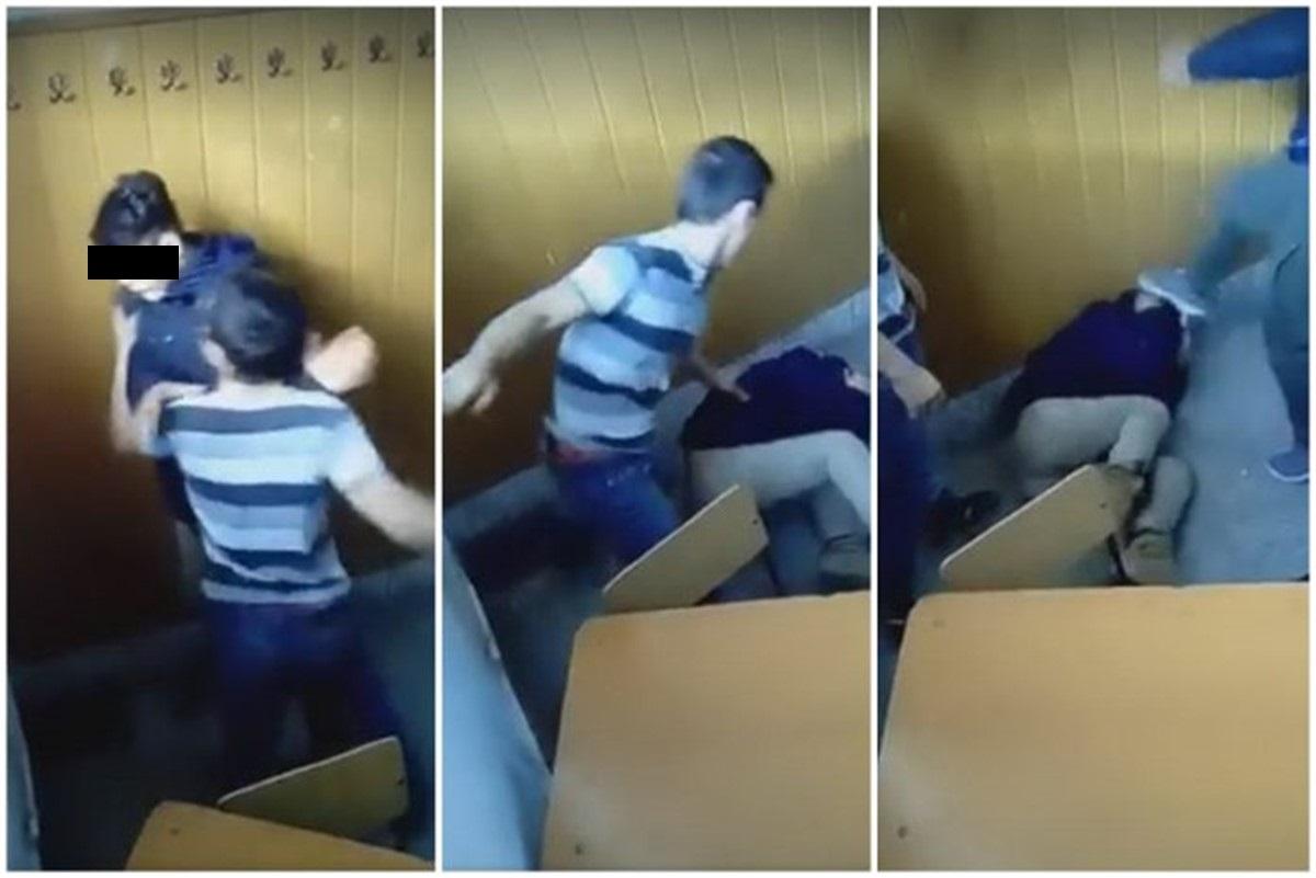 Un elev a fost bătut la liceul Aurel Vlaicu din Lugoj. Bătaia a fost transmisă live pe Facebook, de către un alt elev care a filmat toată scena.