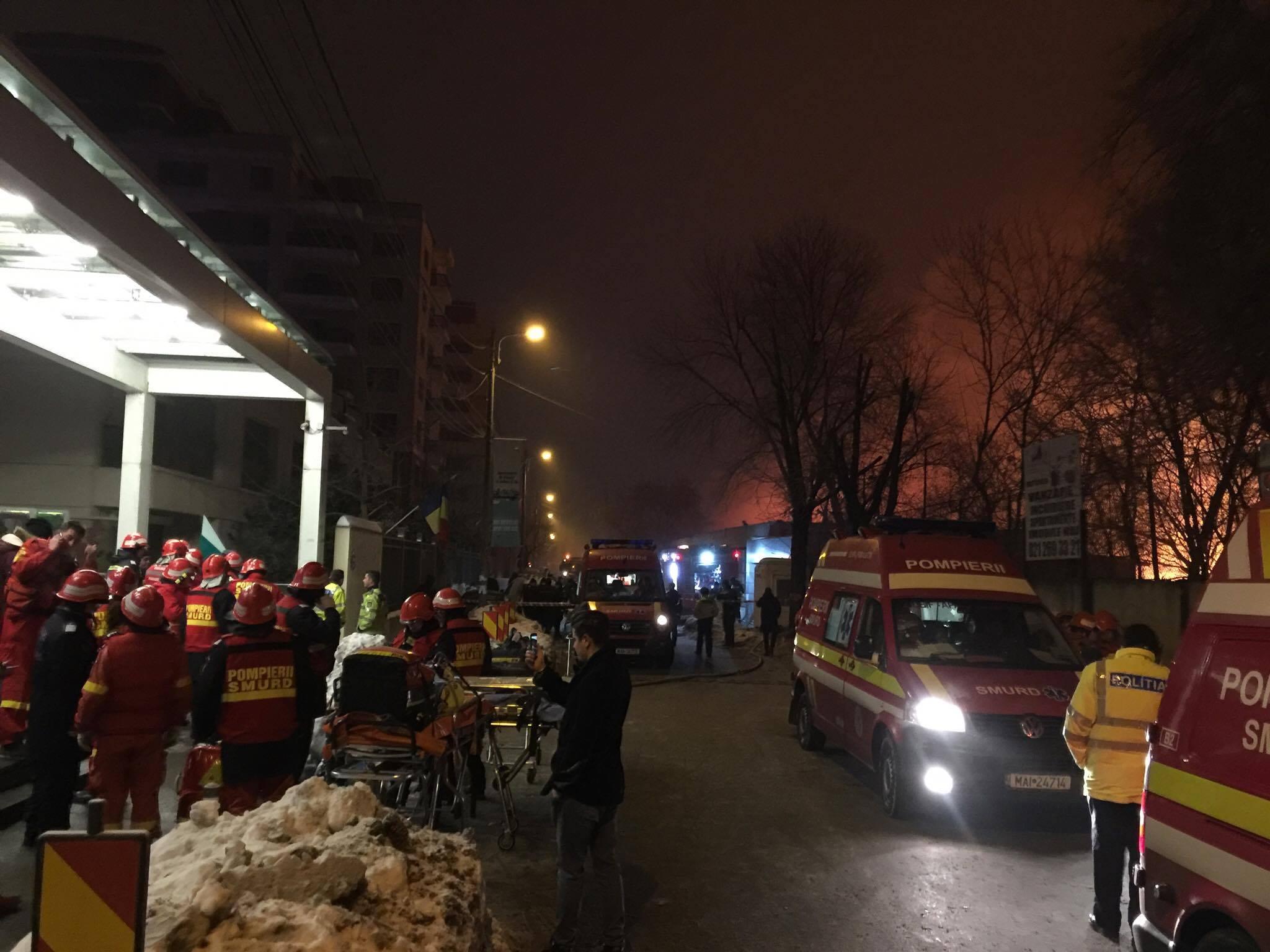 Incendiu Bamboo București. ISU: Sunt multe victime VIDEO LIVE