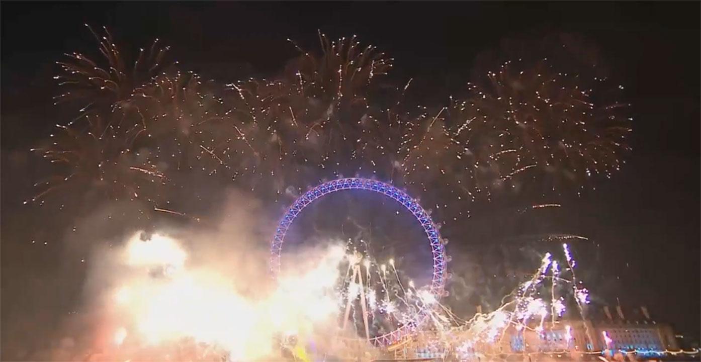 Revelion 2017 Marea Britanie a trecut în 2017, Focuri de artificii din Londra