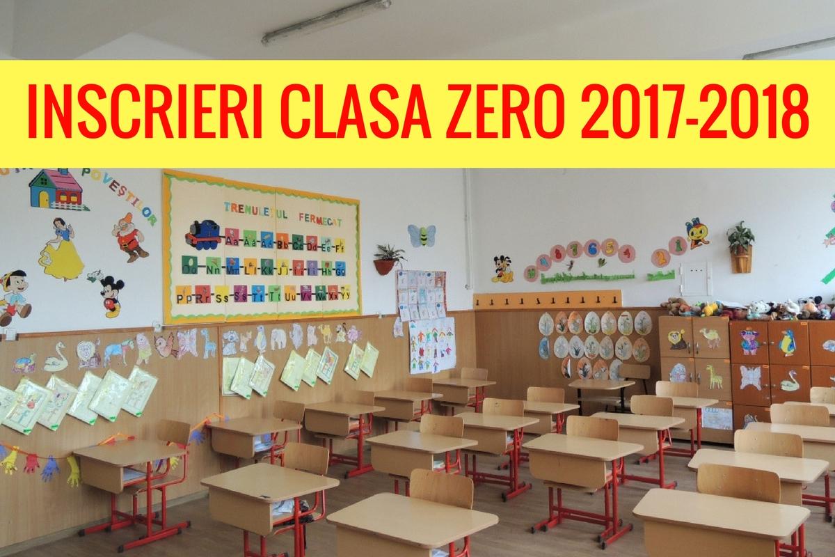 Înscrieri clasa pregătitoare 2017. Înscrierile în clasa zero încep în data de 27 februarie. Vezi aici calendarul înscrierilor.