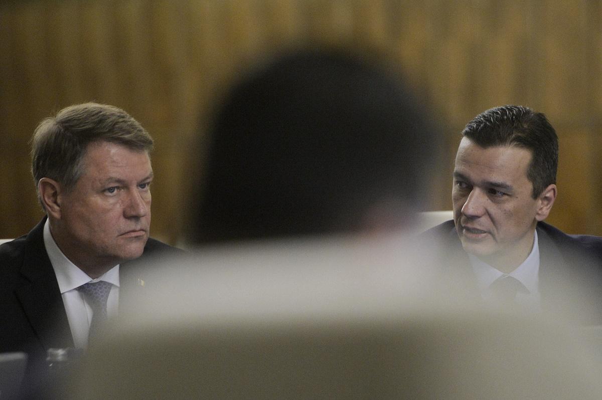 Klaus Iohannis și Sorin Grindeanu