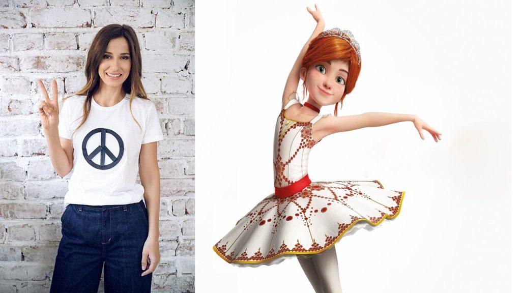 """Dana Rogoz promite să fie cea mai simpatică dansatoare, din 3 martie pe marile ecrane, odată cu interpretarea micuţei Felicie din spectaculoasa animaţie 3D ,,Balerina"""""""