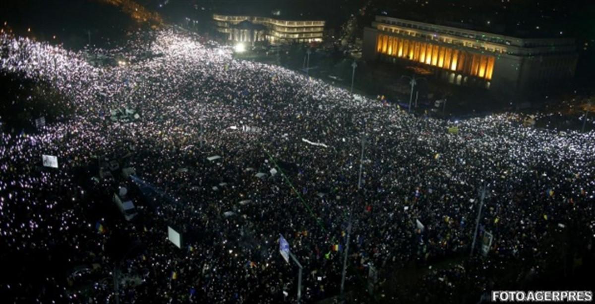 Proteste față de măsurile Guvernului PSD, în București și în țară