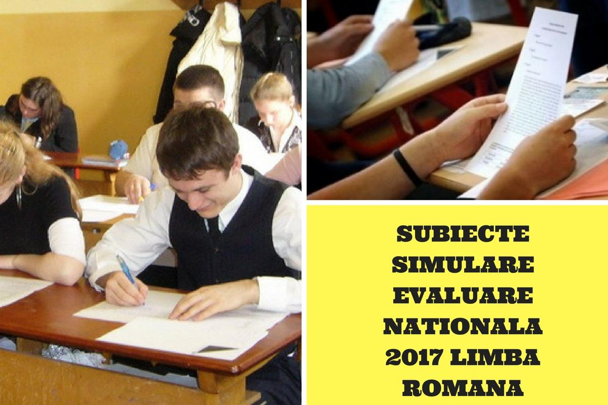 Simulare Clasa A 8 A 2019 Romana Update: Subiecte și Barem Corectare Simulare Română Evaluare