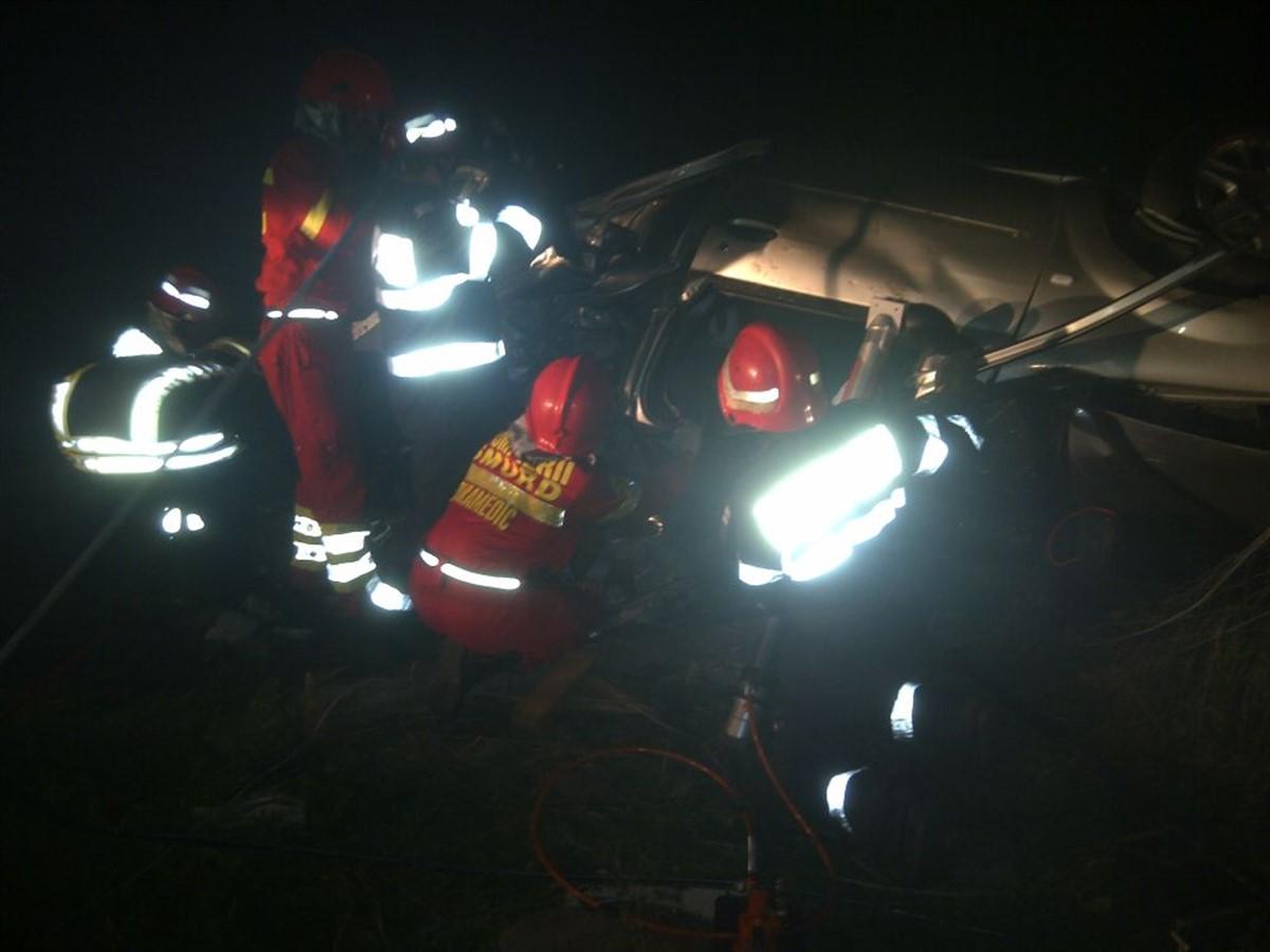 Accident între Blaj și Jidvei (județul Alba), pe drumul județean 107. O femeie însărcinată și o fetiță au murit.