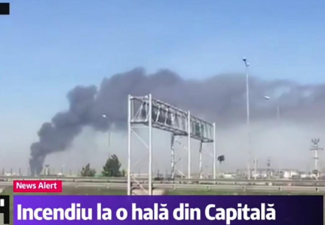 Incendiu la o hală din Sectorul 3 al Capitalei, produs vineri. Șapte autospeciale de pompieri s-au deplasat la fața locului.