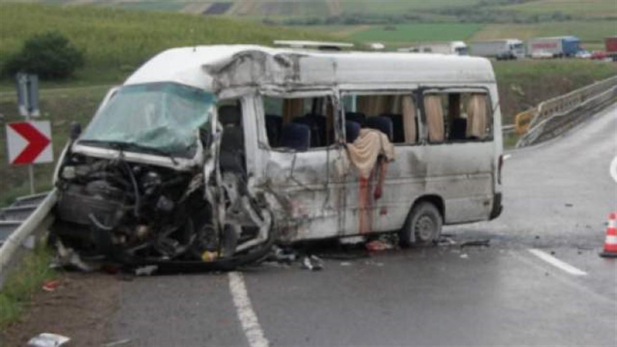 Un grav accident de microbuz s-a produs în județul Bistrița-Năsăud, în localitatea Cristeștii Ciceului.
