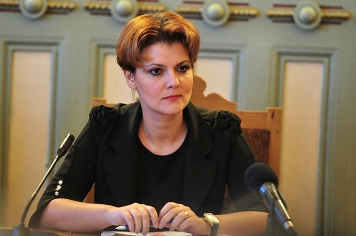 Legea salarizării unitare va duce și la scăderi de salarii. Anunțul a fost făcut de ministrul Muncii, Lia Olguța Vasilescu.