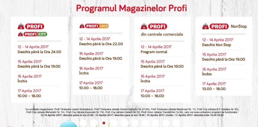 Program profi de paste 2019