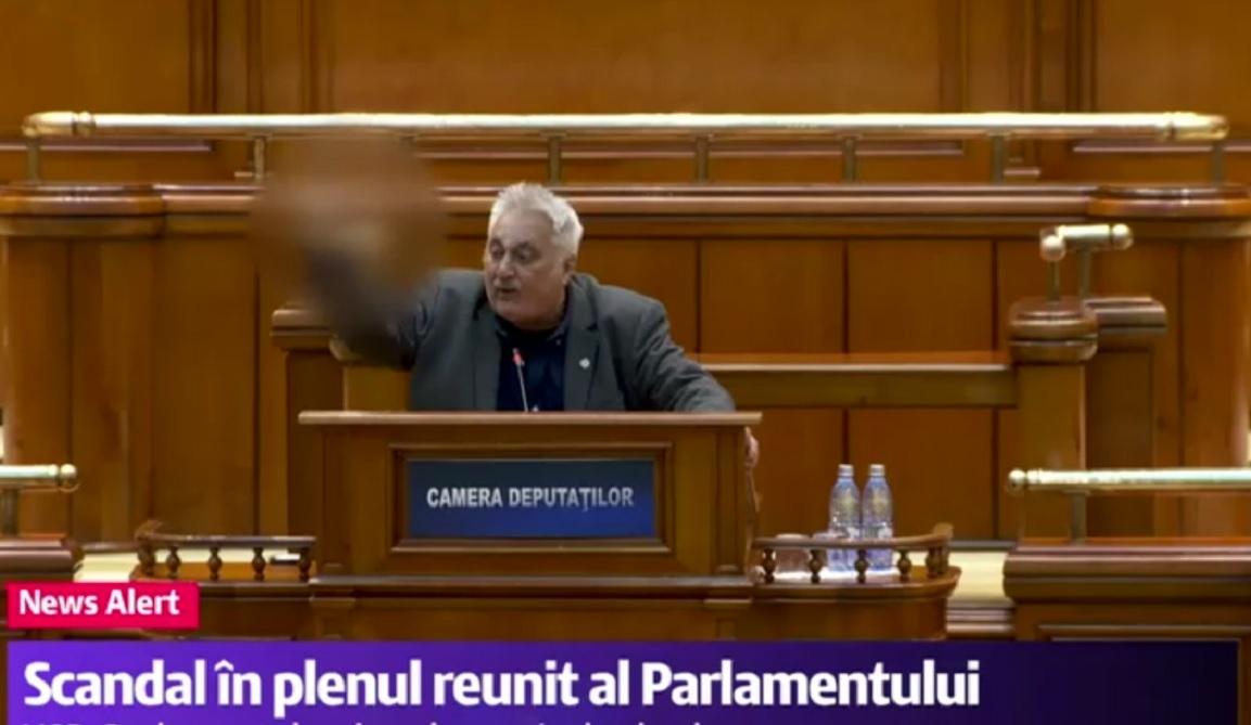 Nicolae Bacalbașa și Claudiu Bichineț au făcut scandal mare în plenul reunit al celor două camere ale Parlamentului.