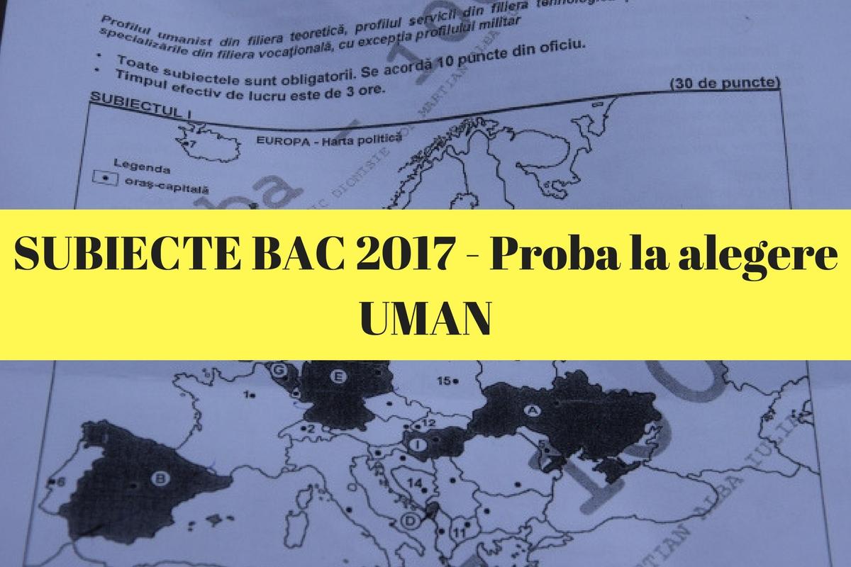 Subiecte Bac 2017 geografie,filosofie, logica, sociologie, psihologie, economie