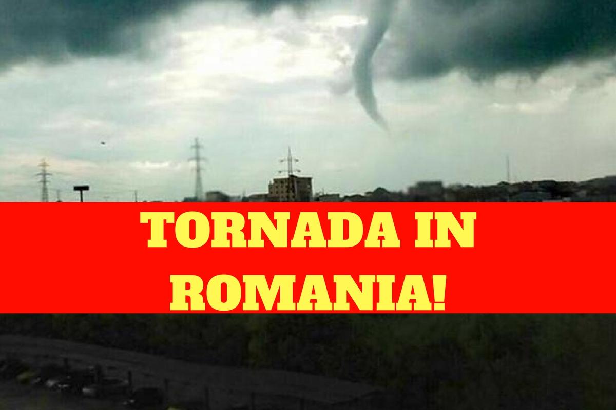 Tornadă în România! Înfiorător ce este în inima furtunii!