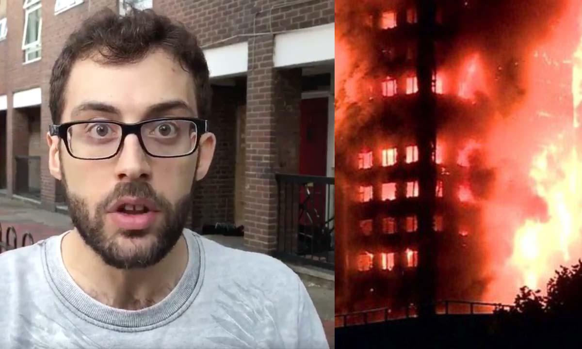IREAL! Incendiul din Londra. Cum a reușit un tânăr să coboare de la etajul 17