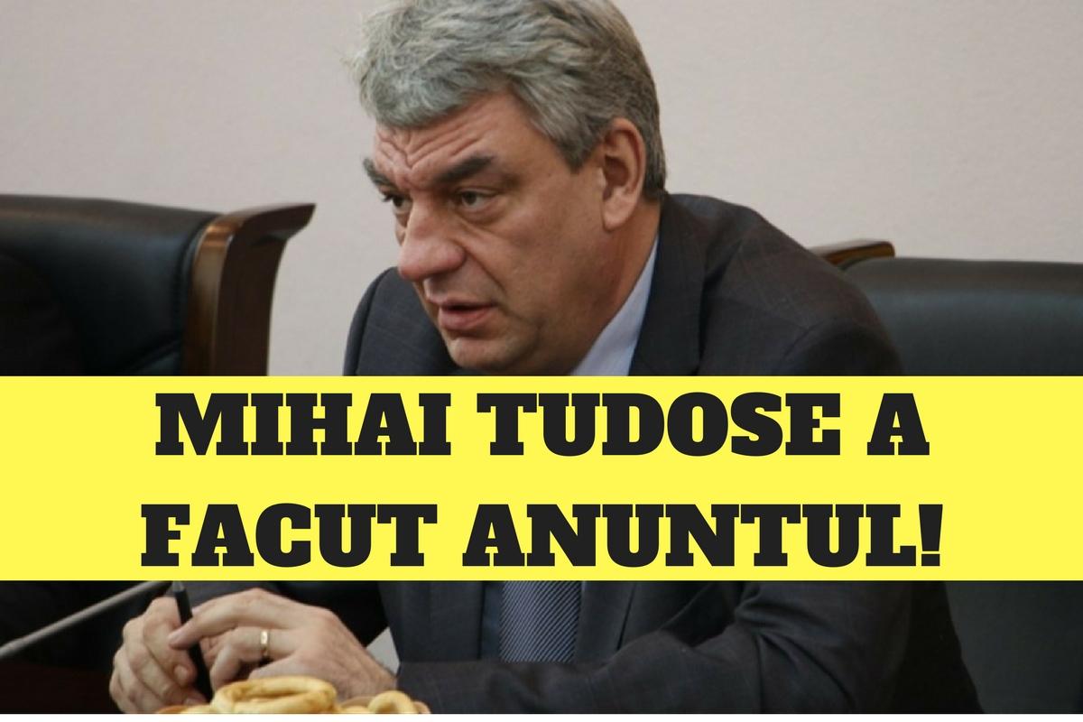 Premierul Mihai Tudose a anunțat: Se va RENUNȚA la această TAXĂ!