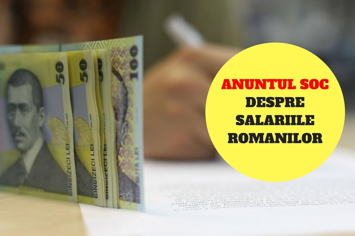 Anunțul ȘOC despre salariile românilor! Studiul a dezvăluit ce se va întâmpla!