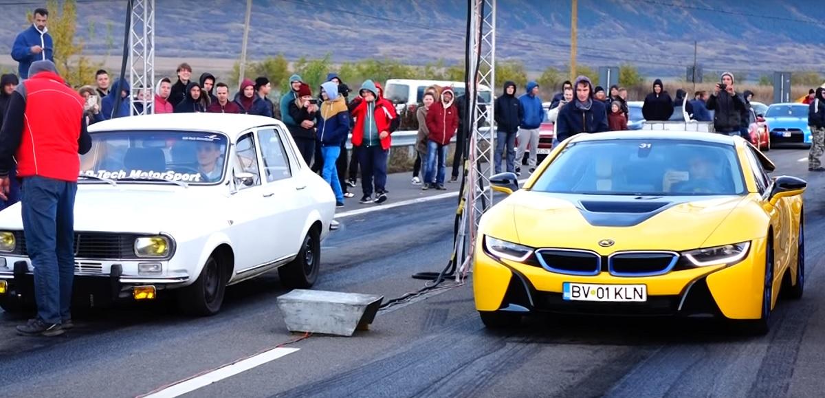 O Dacia 1300 cu motor special s-a luat la întrecere cu un BMW. Cine a câștigat cursa